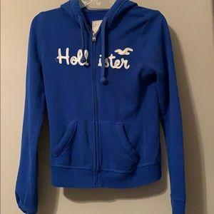 Royal Blue Hollister Zip-up Hoodie